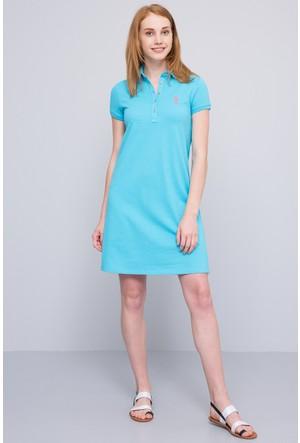 U.S. Polo Assn. Kadın Gurlin Elbise Yeşil
