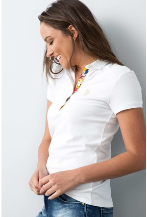 U.S. Polo Assn. Kadın Rp01İy07-011 T-Shirt Beyaz