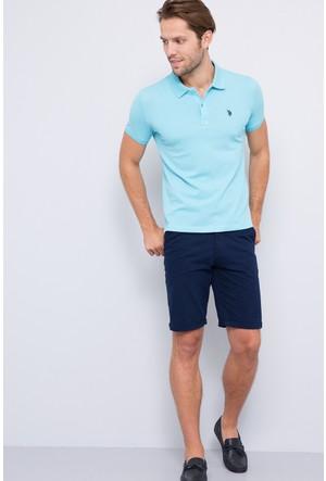 U.S. Polo Assn. Erkek Tp04İy7O Polo T-Shirt Açık Mavi