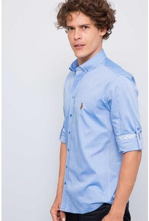 U.S. Polo Assn. Erkek Cedro-G17K Gömlek Mavi