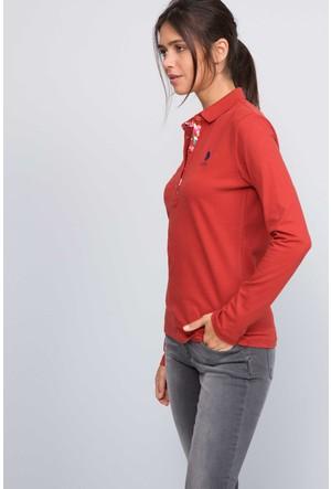 U.S. Polo Assn. Kadın Tpg-Sk07 Sweatshirt Turuncu