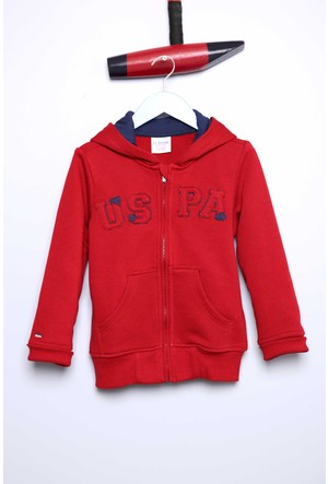 U.S. Polo Assn. Erkek Çocuk Jaxsk7 Sweatshirt Kırmızı
