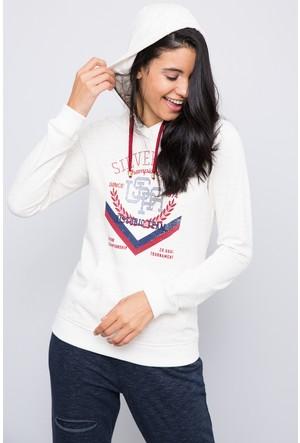 U.S. Polo Assn. Kadın Halper Sweatshirt Beyaz