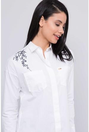 U.S. Polo Assn. Kadın Sarenda17K Gömlek Beyaz