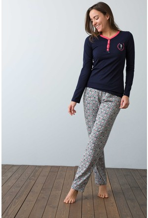 U.S. Polo Assn. Kadın 15920 Pijama Lacivert