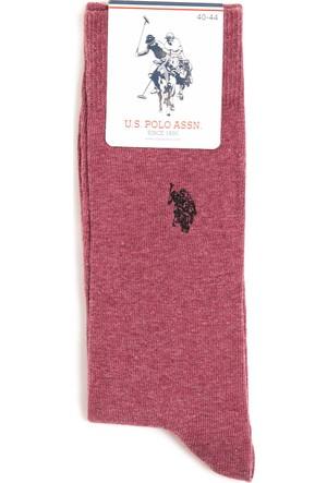 U.S. Polo Assn. Erkek Tekli Paket Çorap Kırmızı
