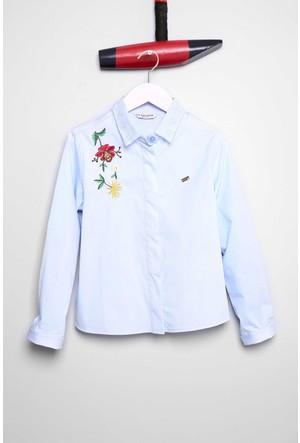 U.S. Polo Assn. Kız Çocuk Foskids Gömlek Mavi