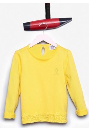 U.S. Polo Assn. Kız Çocuk Fundo Kazak Sarı
