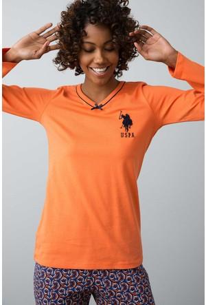 U.S. Polo Assn. Kadın 15937 Pijama Turuncu