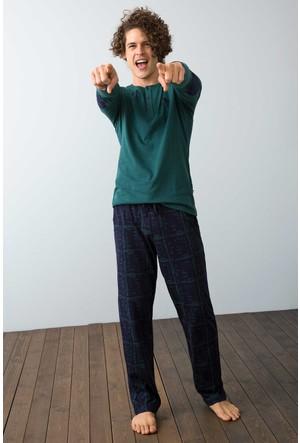 U.S. Polo Assn. Erkek 17524 Pijama Yeşil