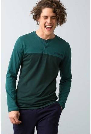 U.S. Polo Assn. Erkek Patlı Pijama Yeşil