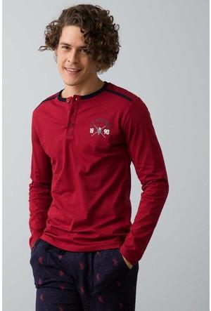 U.S. Polo Assn. Erkek Patlı Pijama Kırmızı