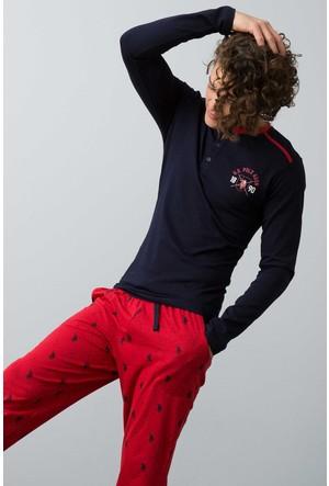U.S. Polo Assn. Erkek Patlı Pijama Lacivert