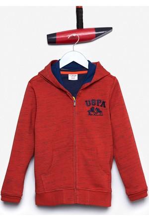 U.S. Polo Assn. Erkek Çocuk Jamiro Sweatshirt Kırmızı
