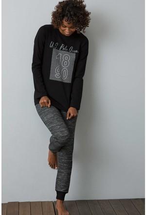 U.S. Polo Assn. Kadın 15956P Pijama Siyah