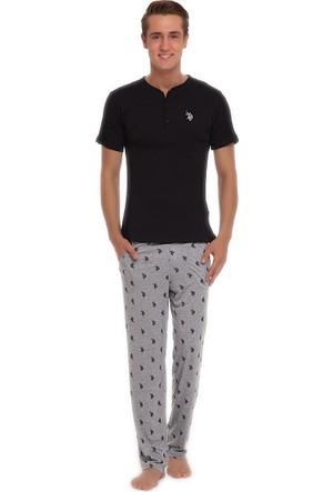 U.S. Polo Assn. Erkek Pijama Siyah