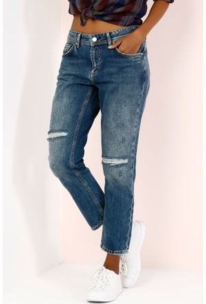 Colin's İndigo Kadın Pantolon
