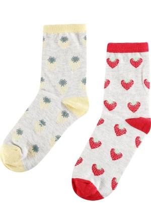 Colin's Beyaz Kadın Çorap