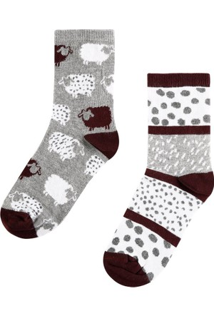 Colin's Gri Kadın Çorap