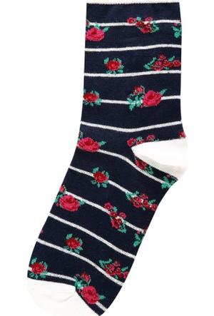 Colin's Lacivert Kadın Çorap