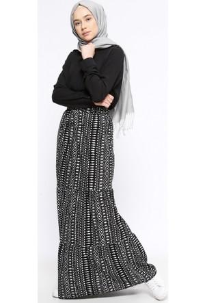 Desenli Etek - Siyah - Casual By Dide