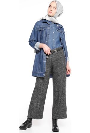 Kırçıllı Pantolon - Siyah - Beha Tesettür
