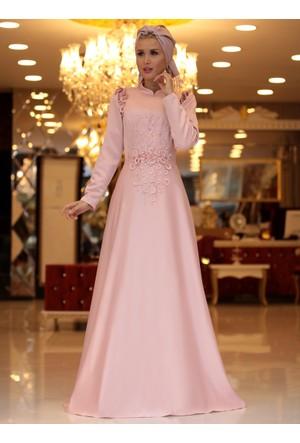 Mia Abiye Elbise - Pudra - Selma Sarı Design