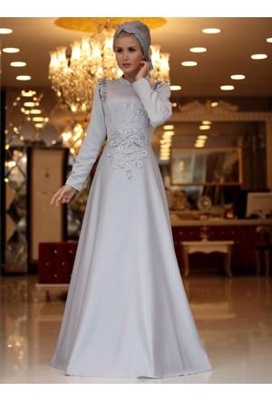 Mia Abiye Elbise - Gri - Selma Sarı Design