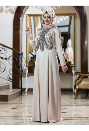 Nisa Abiye Elbise - Pudra - Gizem Kış