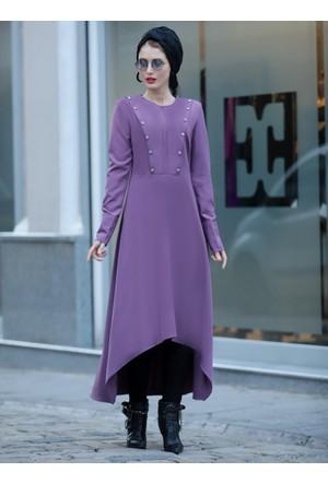 Robalı Uzun Tunik - Lila - Selma Sarı Design