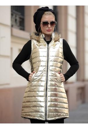 Şişme Yelek - Altın - Selma Sarı Design