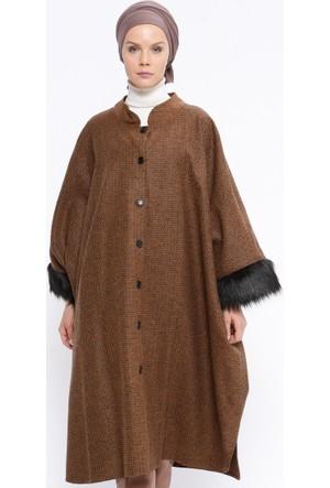 Kürk Detaylı Panço - Camel - Sultan-ı Yegah