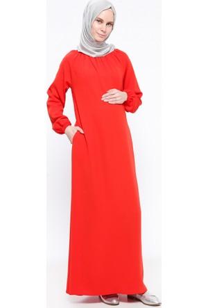 Hamile Elbise - Kırmızı - ModaNaz