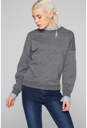 Fullamoda Kadın Sweatshirt Antrasit