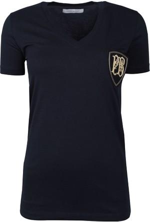 Pierre Balmain Kadın T-Shirt Lacivert FP67206TC7285
