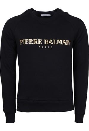 Pierre Balmain Erkek Sweatshirt Petrol HP87202KA7304