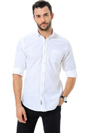 Lufian Lf16Smsh9103 Regular Fit Beyaz Erkek Gömlek