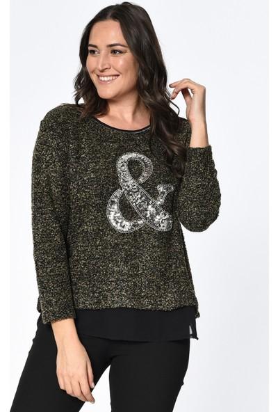 Lir Kadın Triko Bluz Kahverengi 2198