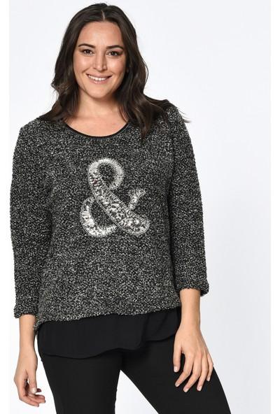 Lir Kadın Triko Bluz Siyah 2198