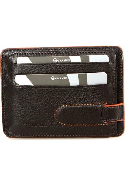 Grande 00544 Deri Kredi Kartlık Kahverengi