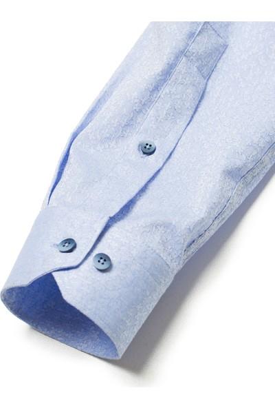 Cacharel Erkek Gömlek Uzun Kol Mavi