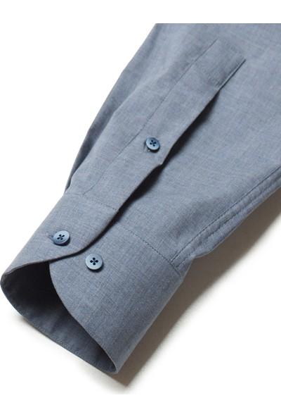 Cacharel Erkek Dokuma Gömlek Mavi
