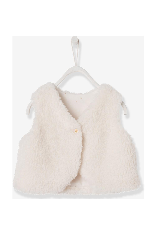 Vertbaudet Baby Girl Fur Vest