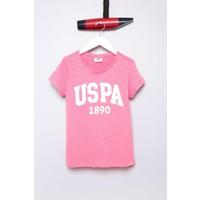 U.S. Polo Assn. Kız Çocuk Vean T-Shirt Fuşya