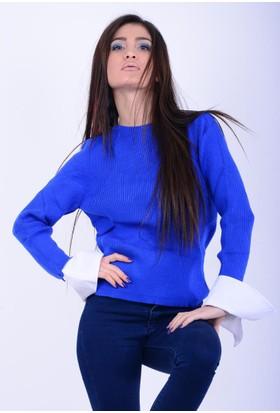 Lustrin Kadın Bisiklet Yaka Kazak 17-2B633046