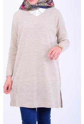 Turtaş Kadın V Yaka Triko Tunik 17-2B140005