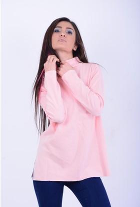Secret-Secret Kadın Yarım Balıkçı Yırtmaçlı Bluz 17-2B710002