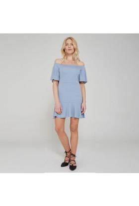 Ribellion Açık Omuz Fırfırlı Elbise 17YKE 30