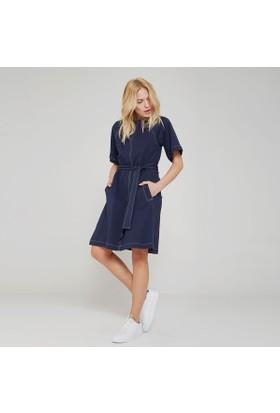 Ribellion Kontrast Dikiş Detaylı Elbise 17YKE 39