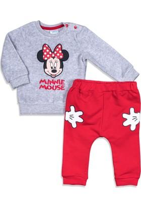 Disney Minnie Mouse Bebek Polar Pijama Takımı 12071